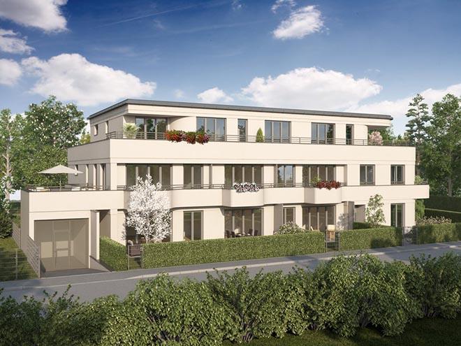 Wohnkunst in Solln: Hier entstehen acht Wohnungen mit Größen von ca. 79 bis 224 Quadratmetern. Fotocredit: neubaukompass.de
