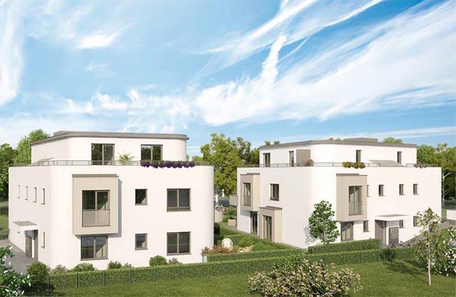 eigene Wohnung als Altersvorsorge: 14 Eigentumswohnugnen in zwei Mehrfamilienhäusern.Fotocredit: neubaukompass.de