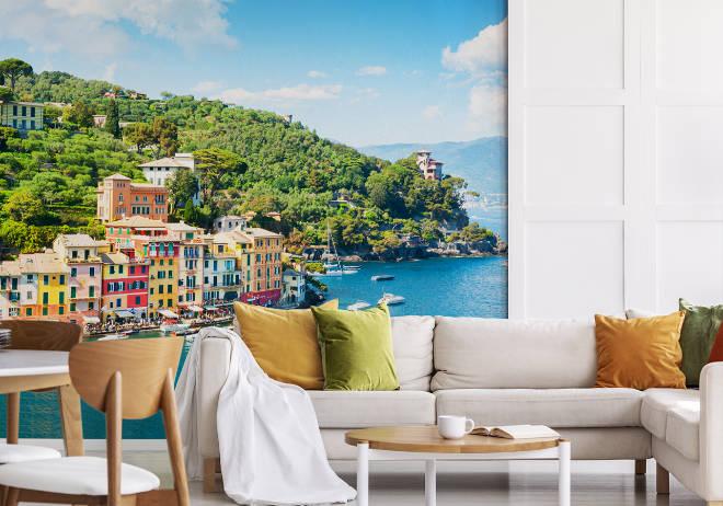 Fototapeten mediterrane Landschaft im Wohnzimmer. Fotocredit: myloview.de