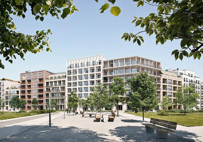 Hoch der Isar, das sind 185 Eigentumswohnungen mit 1 bis 6 Zimmern von ca. 28,14 m² bis hin zu 331 m² Wohnfläche. Fotocredit: neubaukompass.de