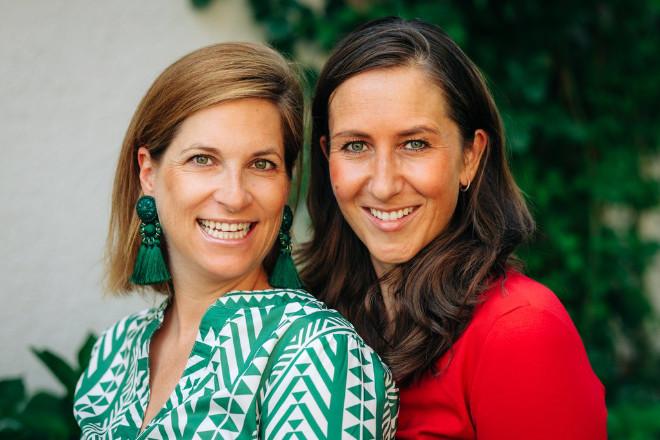 Die Gründerinnen vom Münchner Schuhlabel belle-amie (v.l.): Amélie Thyssen und Isabelle Schütte