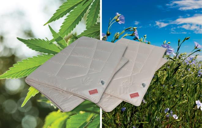 Mit Bio-Hanf und Bio-Leinen gibt es jetzt die erste vegane Bettwäsche auf dem Markt. Fotocredit: Hefel