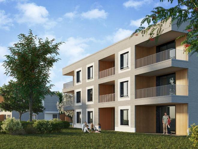 Wohnen am Ammersee mit neuer Adresse! Die chicen Mehrfamilienhäusern werden durch 16 Reihenhäuser komplementiert! Fotocredit: neubaukompass.de