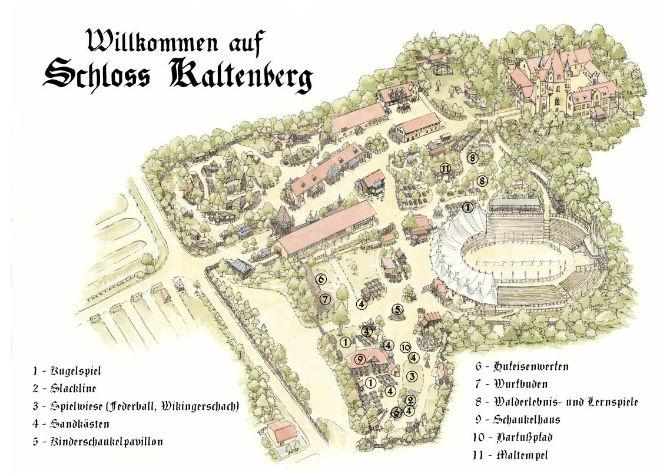 Sommermarkt Es werden große Geländeteile des Veranstaltungsgeländes um Schloss Kaltenberg geöffnet. So kann man ein lauschiges Plätzchen im Liegestuhl unter den Bäumen finden.