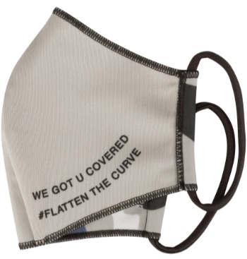 Schutzmaske für Mutter Kind mit Message: 'We got u covered' + #Flatten the Curve
