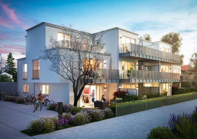 Der Baustart der 13 Wohneinheiten ist gerade mit über 2 bis 4 Zimmern und Wohnflächen von ca. 54 bus 122 qm erfolgt.