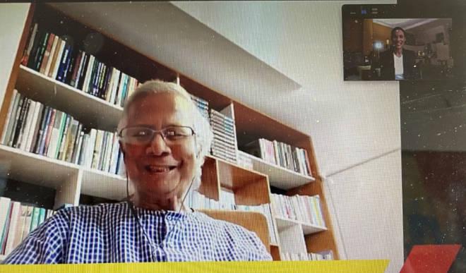 2006 erhielt der indische Wirtschaftsfachmann Muhammad Yunus mit seiner Grameen-Bank für Mikrokredite den Friedensnobelpreis. Screenshot ISPO
