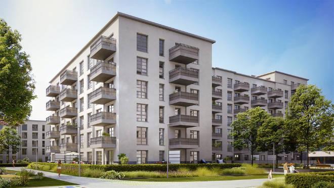 Vielfältige Grundrisse mit 1 bis 4 Zimmern und bis zu 120 qm groß stehen bei den 256 Wohnungen zur Auswahl. Fotocredit: neubaukompass.de
