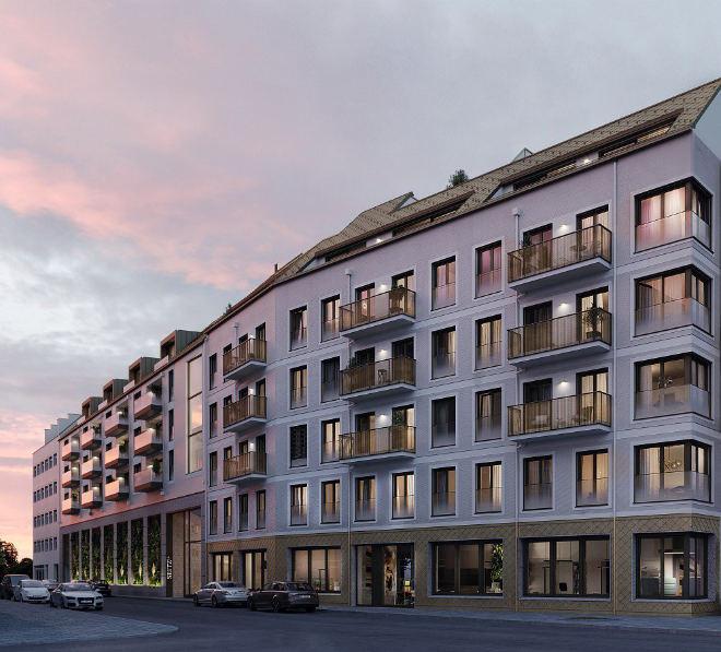 39 Eigentumswohnungen entstehen im Lehel mit 1 bis 5 Zimmer mit Wohnungsgrößen von ca. 27 bis ca. 205 qm. Fotocredit: neubaukompass.de