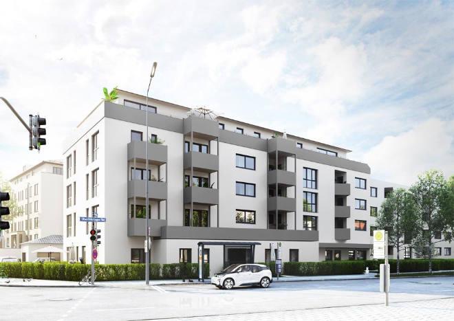 In der Oberföhringer Straße entstehen 26 Wohnungen in einem Nuebauprojekt