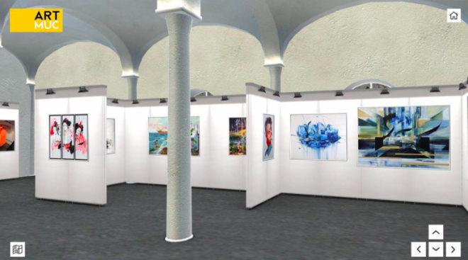 So wird der virtuelle Raum der ARTMUC Kunstmesse ausschauen!