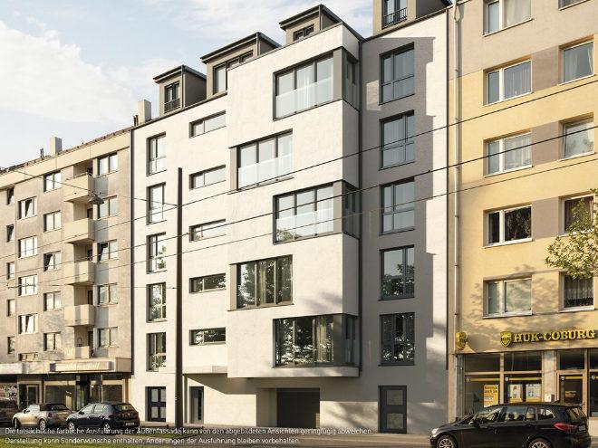 Maisonette Wohnung kaufen - Grundrisse mit Wohnflächen von 33 bis 125 qm, die zum Teil mit Balkon oder (Dach-)Terrasse versehen sind. Fotocredit: neubaukompass.de