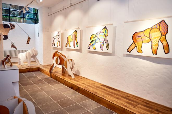Aktuelle Ausstellung im 'Tintswalo- African Colors' bis 6. Februar 2021. Fotocredit: La Maison Valmont