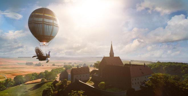 Mit Virtual-Reality-Technik im Flug durch Bayerns bewegte Geschichte zu elf historisch bedeutenden Orten bzw. Ereignissen der vergangenen 7.000 Jahre