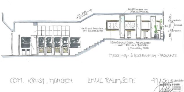 Die Architekten-Zeichnung lässt erahnen, wie toll es im Laden ausschauen wird. Neue Bilder liefern wir nach dem icrush Opening morgen nach!