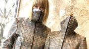 Neuer Mode Maskhave Clou: Mantel mit Mund-Nasen-Schutz