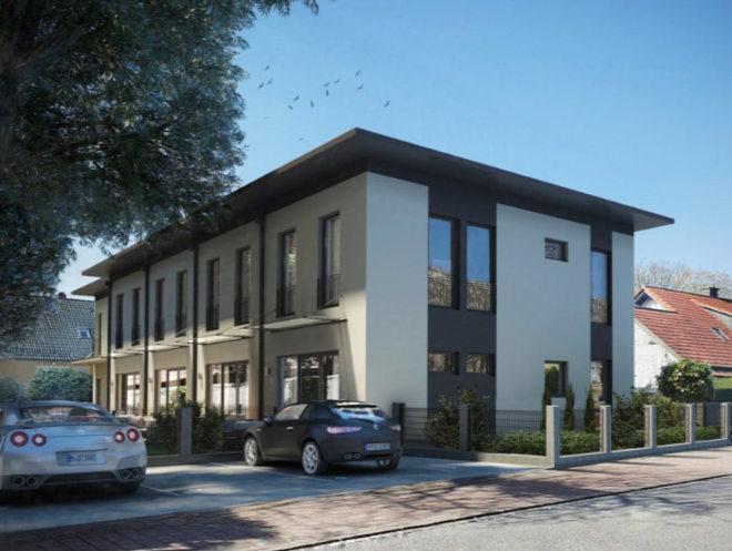 Mit 3 bis 4 Zimmern, rund 129 bis 132 m² Wohnfläche und eigenem Garten sollen die KfW Effizienzhaus 85-Einheiten ab Sommer 2021 bereits fertig sein. Fotocredit: neubaukompass.de