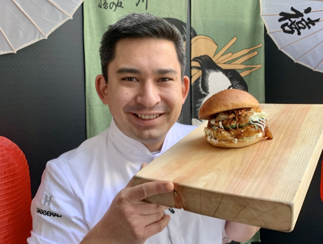 "Burger to Go: Tohru Nakamura zeigt sein Streetfood! Fotocredit: SALON rouge_Tohru Nakamura"""