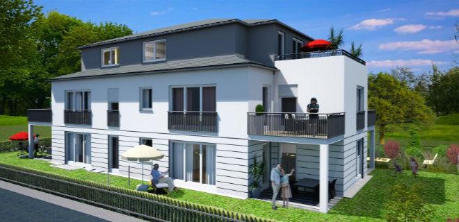 Architekturzeichnungen beim Immobilienkauf - Wohnungen entstehen in dieser Stadtvilla in Obermenzing. Fotocredit: neubaukompass.de