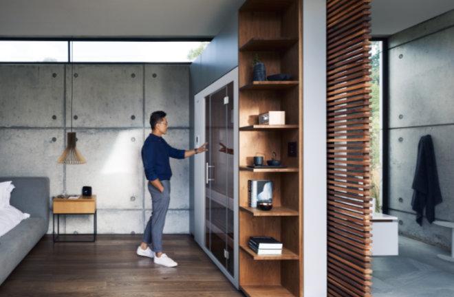 Die Trends der cleveren, innovativen, nachhaltigen und raumsparenden Produkte kann KLAFS nicht nur bedienen, sondern kombiniert diese Eigenschaften in seinen Innovationen. S1 ist die kleinste Sauna der Welt