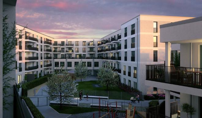Hier kann man nachhaltig wohnen. Insgesamt werden hier 200 Wohnungen in zwei Bauabschnitten in Freising entstehen. Fotocredit: neubaukompass