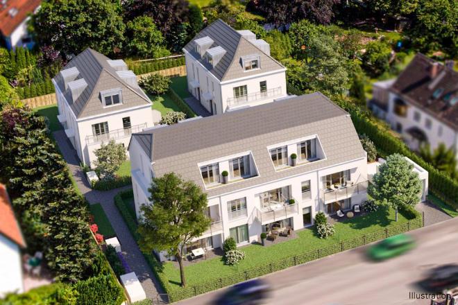 Immobilienbewertung ohne Abstriche: Neubau von acht Eigentumswohnungen und vier Doppelhaushälften. Fotocredit: neubaukompass.de