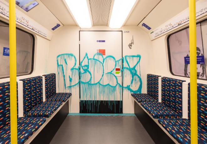 Londoner Street Art von Bansky