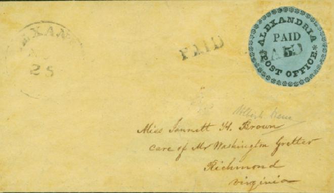 Der berühmte Blue Boy gilt als Ikone der amerikanischen Philatelie. Es gibt nur dieses eine Exemplar – noch dazu auf dem original verwendeten Briefumschlag.