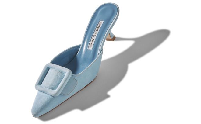 Der Manolo Blahnik Mules-Schuhe 'Maysale' hat eine Absatzhöhe von 5 cm.