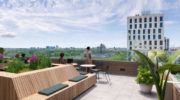 Münchens neuer Wohntower am Schwabinger Tor mit Community-Dachterrassen