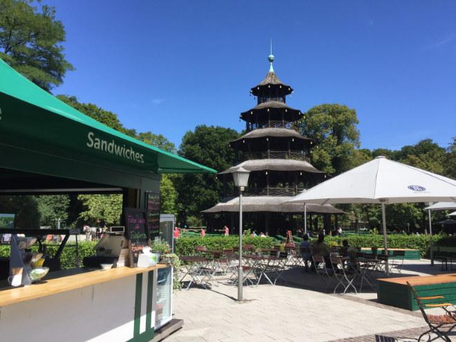 Besonders idyllisch ist der Biergarten um den Chinesischen Turm. Fotocredit: EM