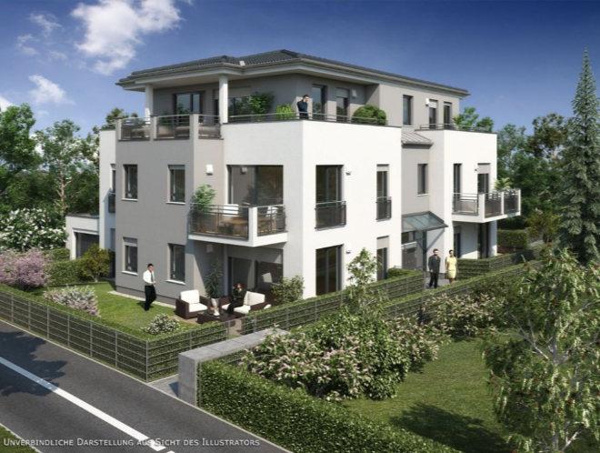 Der Baubeginn für das Mehrfamilienhaus wird spätestens im Herbst 2021 erfolgen, die Bauzeit beträgt bis zur Bezugsfertigkeit ca. 18 Monate. Fotocredit: neubaukompass.de