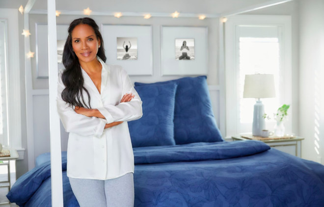 """Im Bett mit Barbara Becker hat ihre erste eigene Kollektion mit Bettwäsche und Handtüchern für """"Lidl"""" herausgebracht, die ab dem 25. Mai 2021 in allen Filialen der Kette erhältlich ist."""
