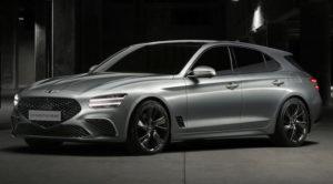 Mit dem G70 Shooting Brake will Genesis den Kombiversionen des Audi A4, BMW 3er und der Mercedes C-Klasse Marktanteile abjagen. Mit 4,69 Meter Länge, 1,85 Meter Breite und 1,40 Meter Höhe bei einem Radstand von 2,84 Meter siedelt sich der Koreaner genau in deren Segment an. Foto Presse Genesis