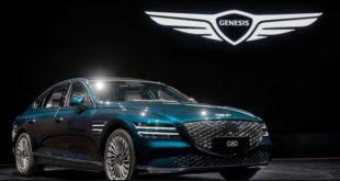 Genesis verfügt ebenfalls über die konzerneigene 800-Volt-Technologie. Den Start macht die Luxuslimousine G80, welche über 500 Kilometer E-Reichweite bieten soll.