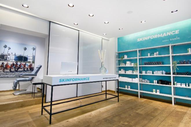 Gesichtspflege neu gedacht: Im neuen Skin Gym gibt es auf 70qm vier Behandlungsplätze.