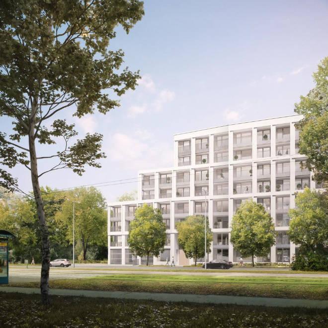Die Bewohner der 1 bis 4 Zimmerwohnungen ab 34 bis 95 qm teilen sich zum Beispiel eine große Dachterrasse. Fotocredit: neubaukompass.de