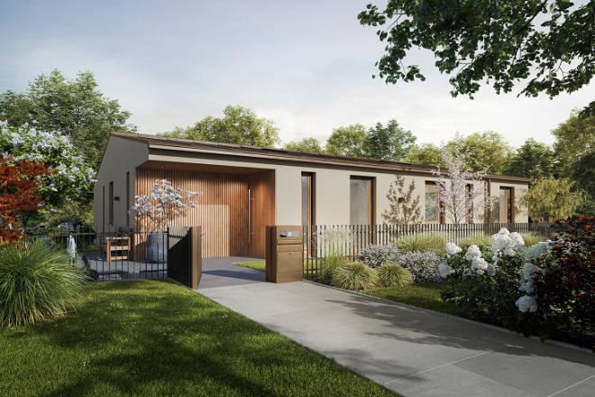 Beide Bungalows sind auf zwei Ebenen mit allein 3 oder 4 Zimmer im Erdgeschoss mit einer Wohnfläche von 205,76 qm.