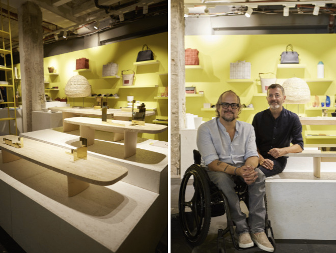ClassiCon-Chef Oliver Holy mit Designer Christian Haas zeigten ihre neue Lowboard-Serie Matéria. Fotocredit: