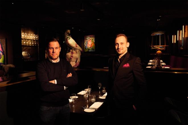 'The Grill' Gastgeber Lars Piwitt (li.) mit Restaurantleiter Stefan Cyrol