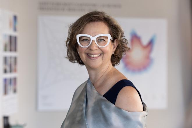 US-Künstlerin Janet Echelman hat 'Earthtime 1.26 Munich kreiert