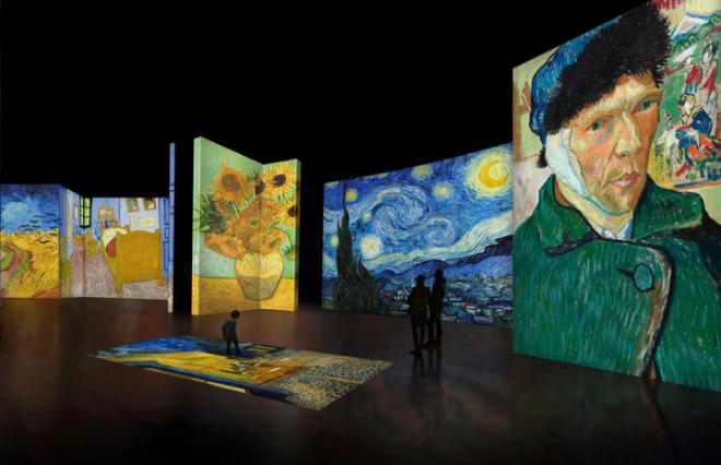 Kunstwerke als digitale Reise in das Leben und Werk des Fin-de-siecle Künstlers Vincent van Gogh. Fotocredit: Grande Exhibitions