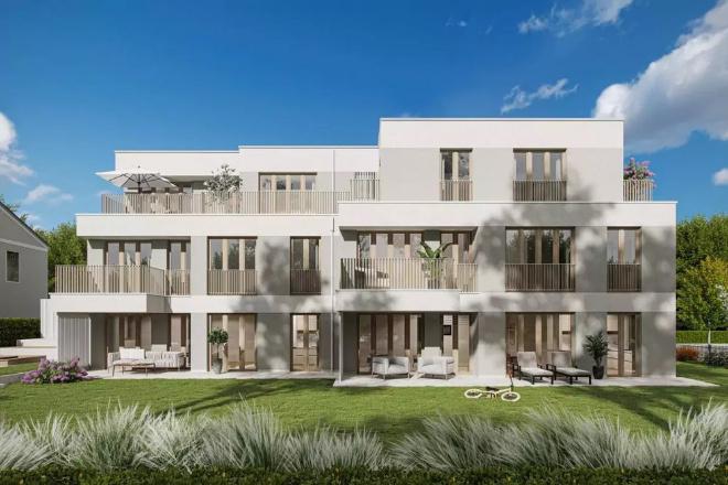 Das Sahnestückchen ist mit ca. 150 qm natürlich hier die Penthouse-Wohnung, welche mit knapp über 2 Mio. € auch die teuerste Wohnung ist. Nachhaltig bauen kann so einfach sein. Fotocredit: neubaukompass.de