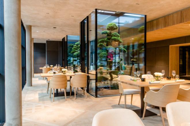 Ein Blick in das neue Restaurant DICHTER. Fotocredit: Parkhotel Egerner Höfe