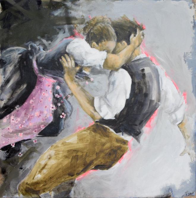 Ein Bild von Künstlerin Stefanie Dirscherl. Sie ist gleich am ersten ART MUC Re:Start Wochenende im Lichthof zu sehen!