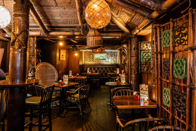 Südsee-Flair mitten am Promenadeplatz: Im Restaurant Trader Vic's